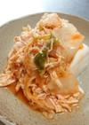 鶏ササミのキムチ豆腐