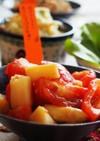 麺つゆ♡トマトとホワイトアスパラのお浸し