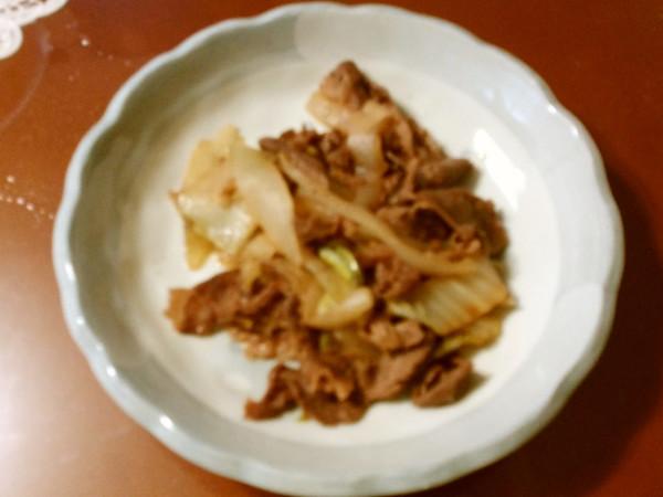 牛肉のすき焼き風炒め