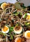 麻婆豆腐、麻婆茄子の素で丼ぶり飯☆