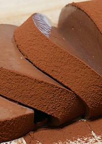ゼラチンで作るチョコレートムースケーキ