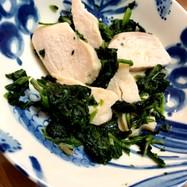 冷食で☆チキンとほうれん草の中華風味