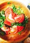 トマトサニーレタスつまみ菜サラダ