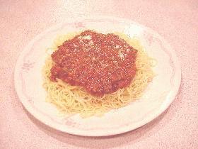 子供も大人も☆ミートソーススパゲティ