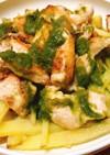鶏むね肉のカリカリソテー〜ジェノベーゼ風