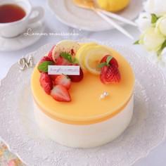 ぷるぷる♡レモンムースケーキ