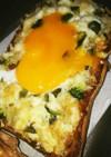 納豆&しらす胡瓜のチーズトースト