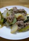 豚と野沢菜のバター炒め