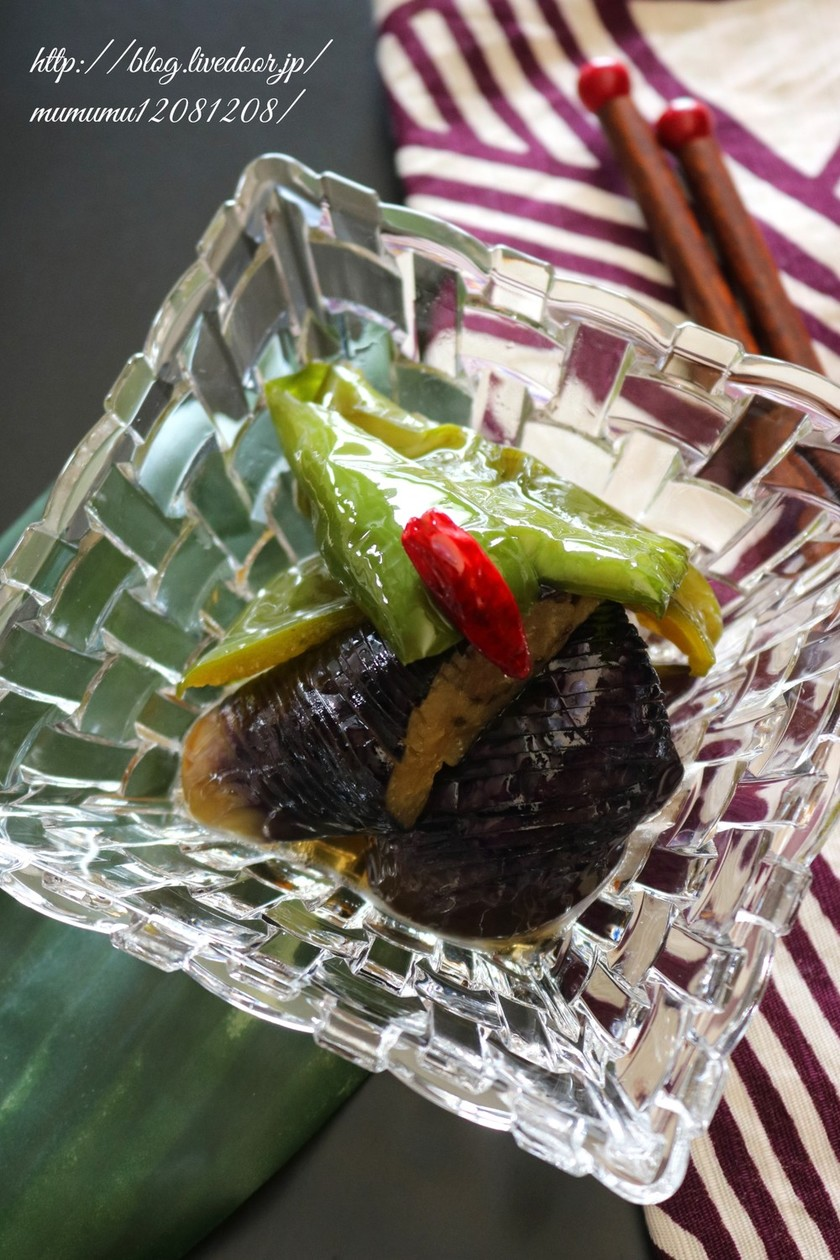 【基本の和食】茄子とピーマンの揚げ浸し。