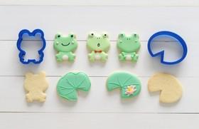 アイシングクッキー【カエルと蓮の葉♡】
