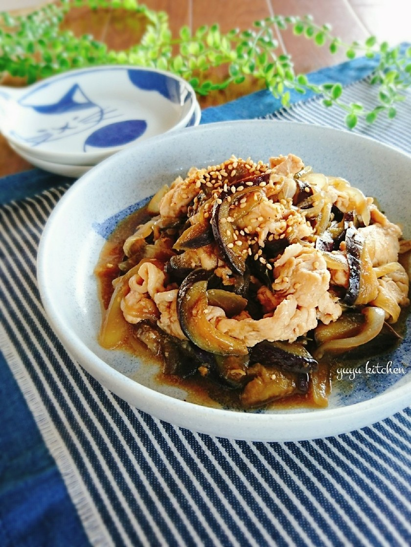 簡単節約☆豚こまと茄子のオイスター炒め。