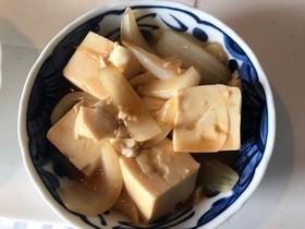 新玉ねぎと豆腐の中華煮