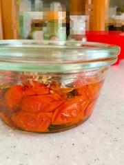 セミドライトマトのオイル漬けの写真