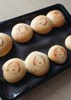 パンに♪簡単模様パンお弁当♥スヌーピー