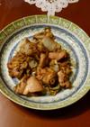 鶏肉の黒胡麻炒め
