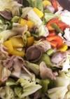豚肉&砂肝と野菜の青じそドレッシング炒め