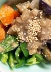 豚こま団子なす野菜たっぷり味噌炒め