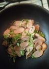 魚肉ソーセージニンニク炒め
