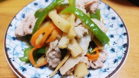 簡単節約おかず♡メンマと豚肉の炒め物♡