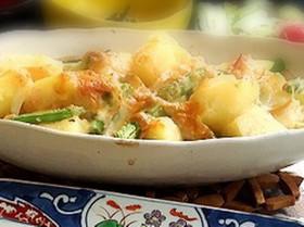 ジャガイモとインゲンのチーズ焼き