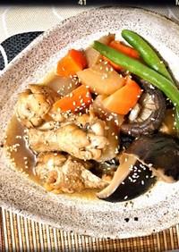 鶏手羽元と椎茸の煮物❀