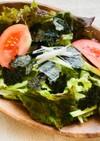 中華風!レタスと焼き海苔のサラダ