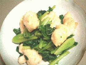 小松菜とささみの炒め物