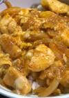 超簡単 ざる蕎麦つゆで鶏胸肉の親子丼