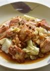 鶏肉とキャベツのオニオンソース