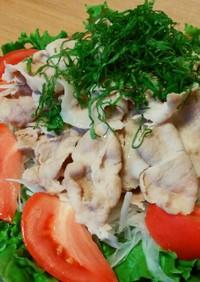 冷しゃぶサラダ(豚肉の茹で方)