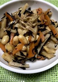 大豆とタケノコとひじきの煮物