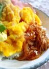 簡単朝食に♪いり卵となめたけ丼
