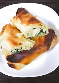 実験:ギリシャ料理スパナコピタ(もどき)