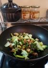 鶏軟骨と青梗菜の中華炒め