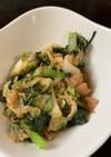 白菜と小松菜、ツナのしんなり炒め