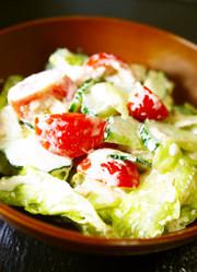 きゅうり・レタス・トマトのツナマヨサラダの写真