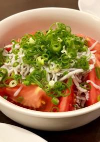 トマトとしらすのサラダ 柚子胡椒風味