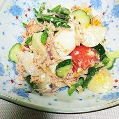 バジル&チーズの夏野菜サラダ