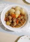 簡単に♪鶏肉とゆで卵のお酢煮込み