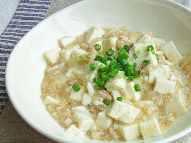 白い マーボー 豆腐