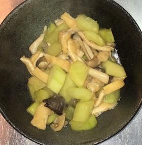 白瓜と茸と油揚げの道明寺煮