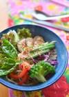 サッポロ一番で簡単タイカレー風冷やし麺