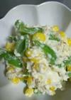 トウモロコシといんげん豆(秋豆)の白和え