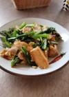 小松菜と豆腐のチャンプル