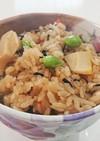 タケノコとひじきの炊き込みご飯!