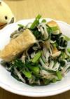 麺つゆで簡単●カニかま入り春菊のおひたし