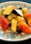 トマトと水ナスの切るだけ簡単サラダ