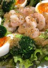 海老ブロッコリーサニーレタスのサラダ