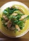 鶏ささみとレタスのサラダ仕立て