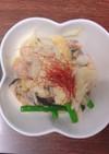 キャベツときのこと鮭のバター炒め